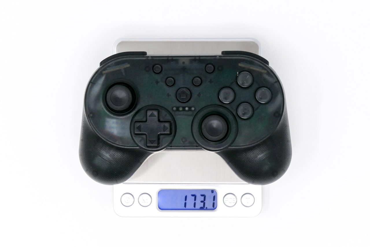 IregoのNintendo Switch用コントローラーの重量